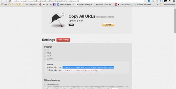 copy all URLs
