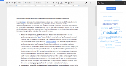 create tag cloud Google Docs c