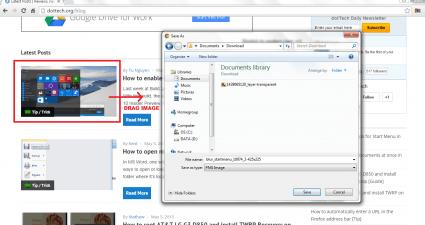 drag image to save Chrome b