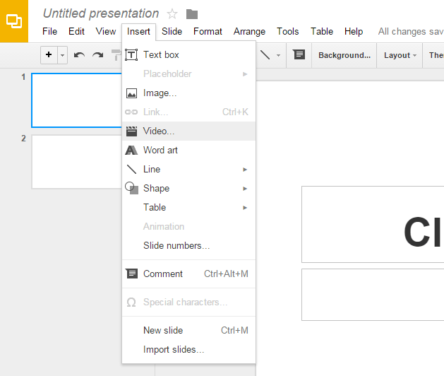 how to add bullets in google presentation