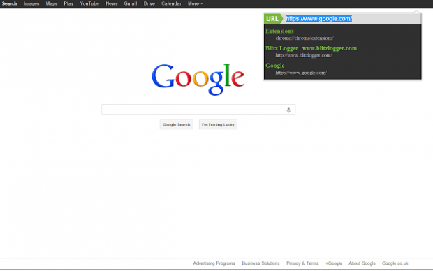 enter URL in Chrome full screen mode c