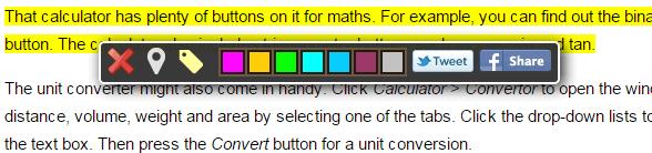 highlight and share Chrome b