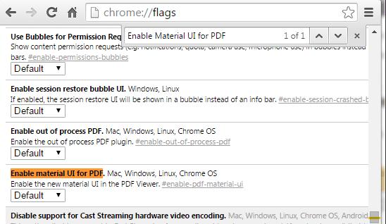 material UI for PDF Chrome