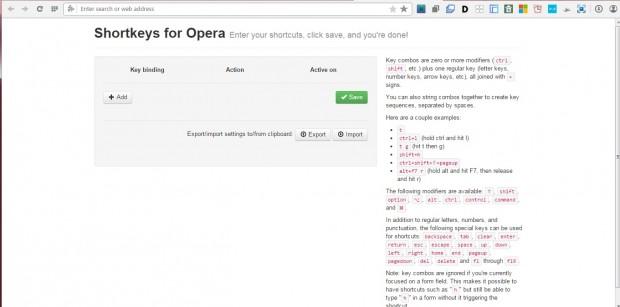 opera shortkeys2