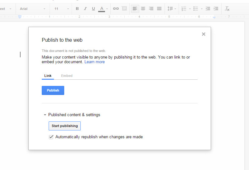 How to publish and unpublish documents in Google Docs [Tip