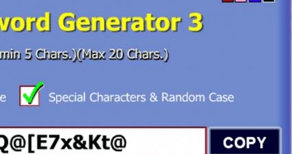 random password generator feat