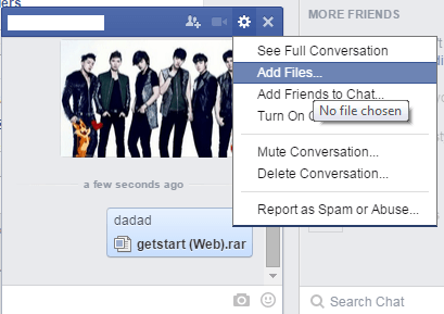 send files via Facebook Chat