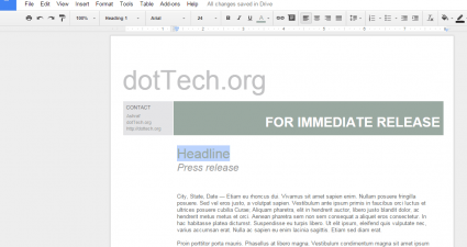 templates for Google Docs b