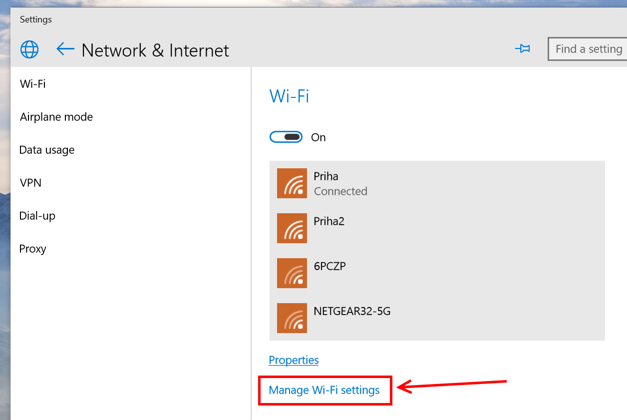 How to disable auto-connect to WiFi hotspots in Windows 10
