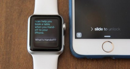 Apple Watch handoff