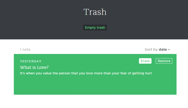 Empty Evernote Trash