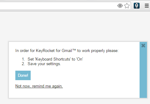 KeyRocket for Gmail Chrome