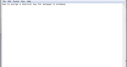 Notepad Windows shortcut key c
