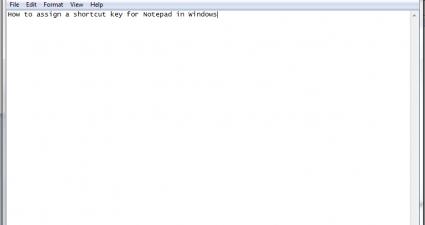Notepad Windows shortcut key c