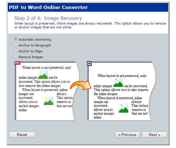 PDF to Word online b