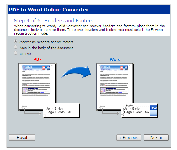 PDF to Word online d
