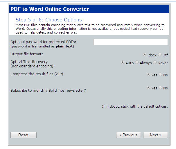 PDF to Word online e
