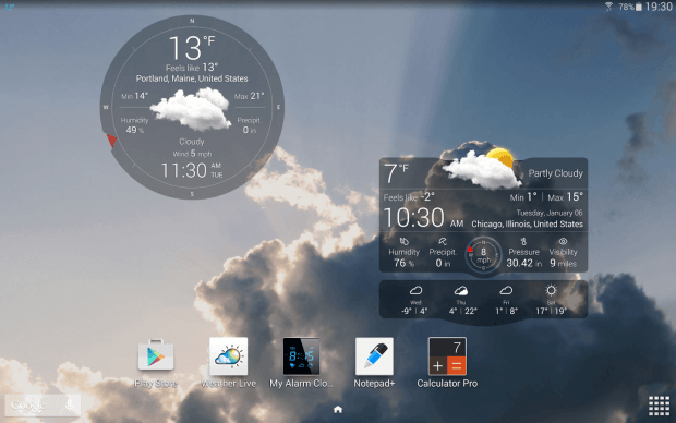 Weather Live with Widgets app for Android