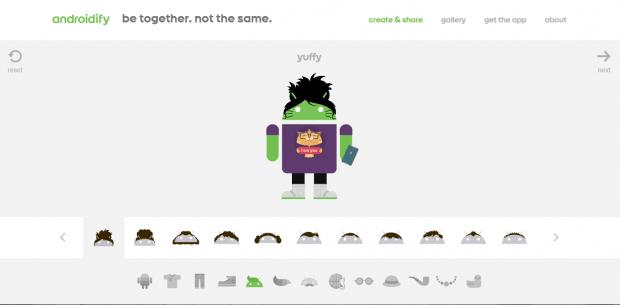 custom Android mascot
