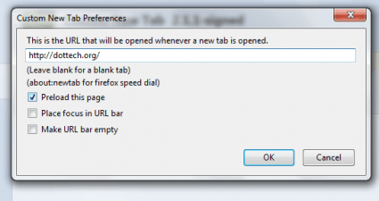 custom new tab Firefox b
