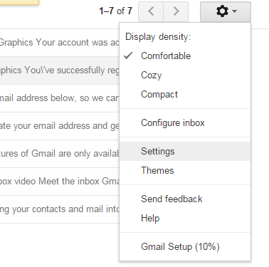 enable undo send option Gmail