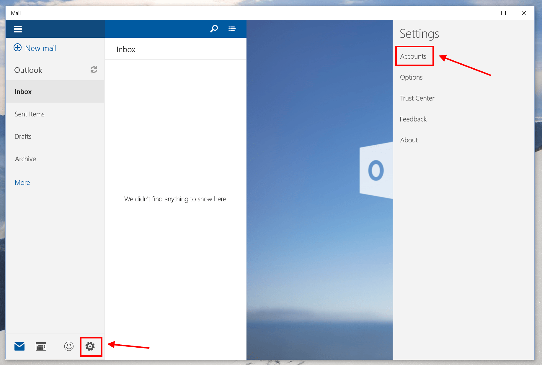 how to delete email account on outlook