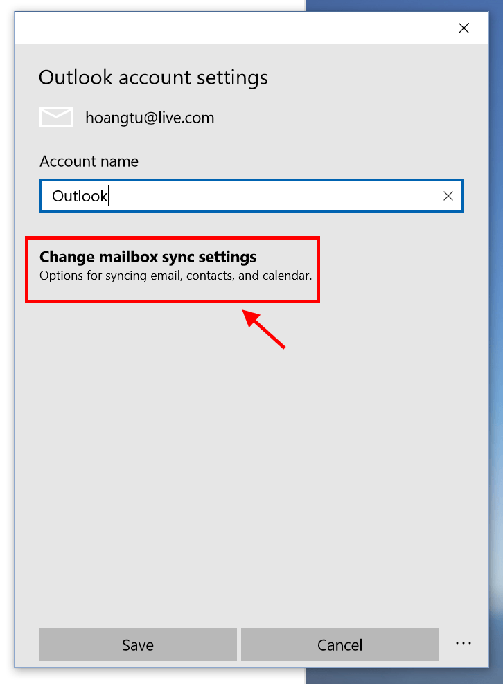 how to delete outlook account windows 10