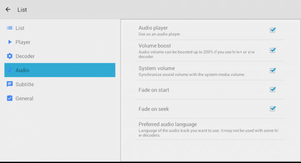 play audio on MX Player