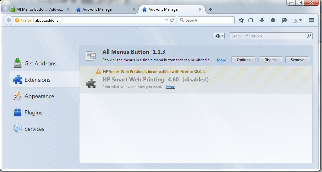 firefox mac show menu bar