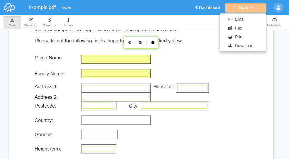 application into download form free convert fillable