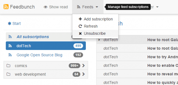 view and manage rss feeds online c