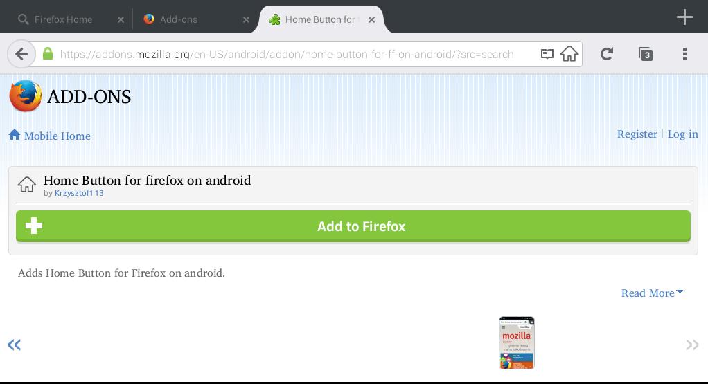 Firefox Home Button Fehlt