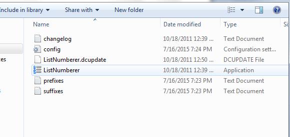 List Numberer Windows