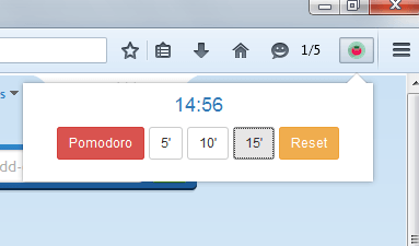 Pomodoro Timer to Firefox