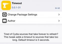 Timeout Cydia