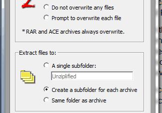 Unziplify Windows Options