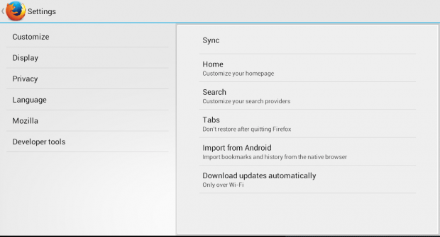 add any site as custom search engine Firefox Android b