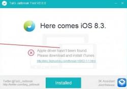 Apple Drivers TaiG error