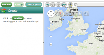 create animated maps online