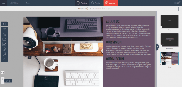 create presentations online c