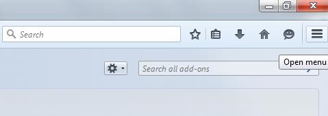 custom Menu icon Firefox