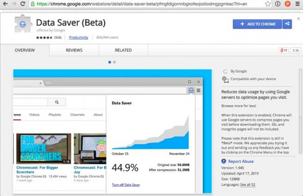 Data Saver beta