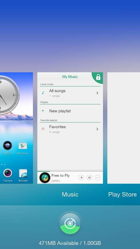 lock background apps Oppo Joy 3