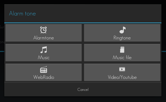 set YouTube video as alarm tone Android d