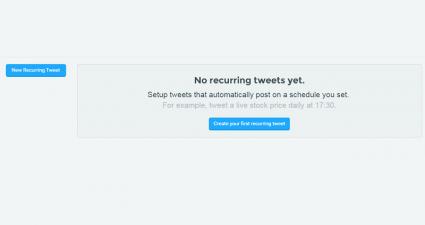 set recurring tweets Twitter