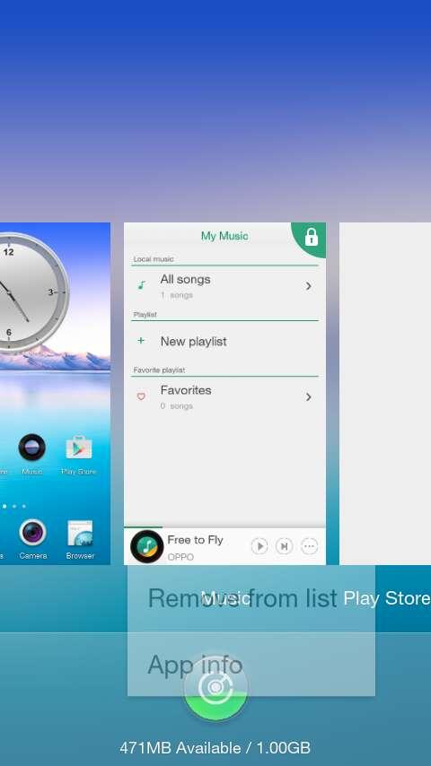 view app info Oppo Joy 3