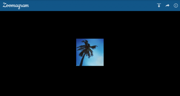 zoom photos Instagram e