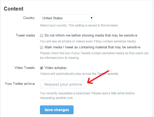 delete tweets Twitter Archive Eraser e