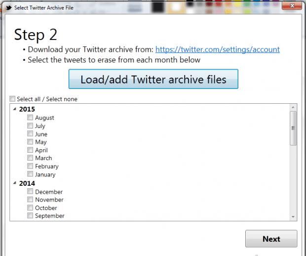 delete tweets Twitter Archive Eraser f