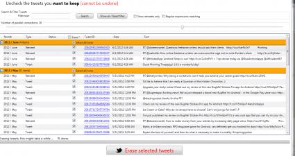 delete tweets Twitter Archive Eraser g